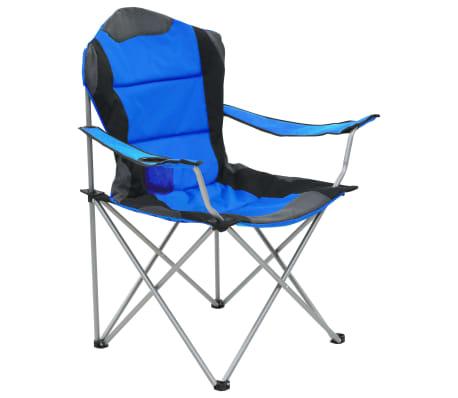 vidaXL Sillas plegables de camping 2 unidades 96x60x102 cm azul[2/12]
