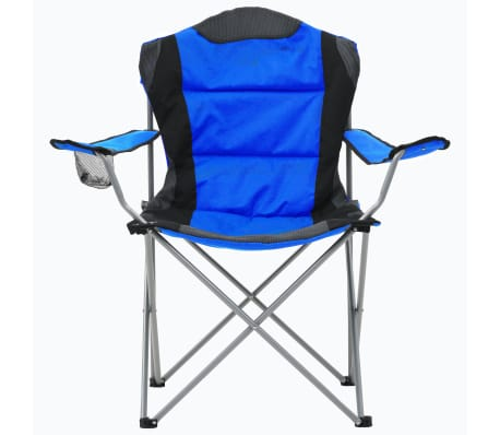 vidaXL Sillas plegables de camping 2 unidades 96x60x102 cm azul[3/12]