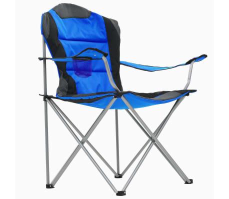 vidaXL Sillas plegables de camping 2 unidades 96x60x102 cm azul[5/12]