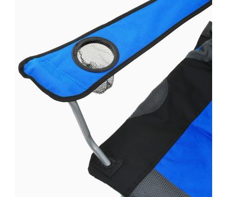 vidaXL Sillas plegables de camping 2 unidades 96x60x102 cm azul[10/12]