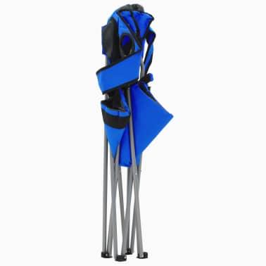 vidaXL Sillas plegables de camping 2 unidades 96x60x102 cm azul[4/12]