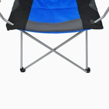 vidaXL Sillas plegables de camping 2 unidades 96x60x102 cm azul[9/12]