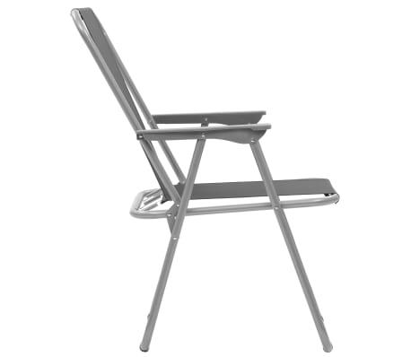 2ad6ba1f2f14 vidaXL Skladacie kempingové stoličky 2 ks 52x59x80 cm sivé 6 9