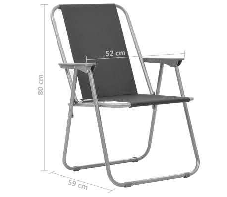 3219518da9ab vidaXL Skladacie kempingové stoličky 2 ks 52x59x80 cm sivé 9 9