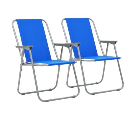 vidaXL Skladacie kempingové stoličky 2 ks 52x59x80 cm modré