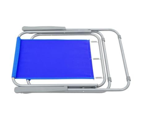 vidaXL Klappbare Campingstühle 2 Stück 52 x 59 x 80 cm Blau[4/9]