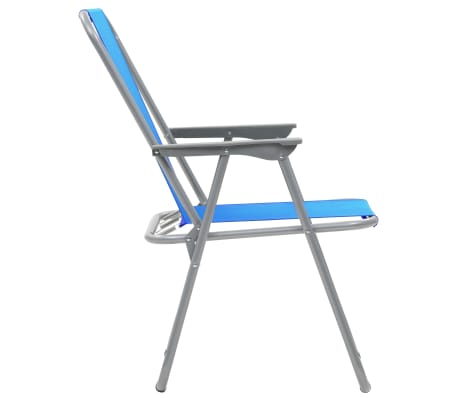 vidaXL Klappbare Campingstühle 2 Stück 52 x 59 x 80 cm Blau[6/9]