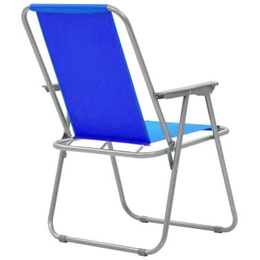 vidaXL Klappbare Campingstühle 2 Stück 52 x 59 x 80 cm Blau[7/9]