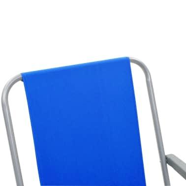 vidaXL Klappbare Campingstühle 2 Stück 52 x 59 x 80 cm Blau[8/9]