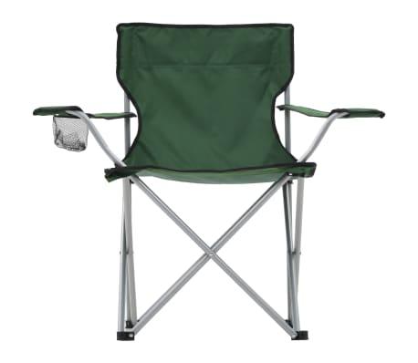 Tavolo E Sedie Da Campeggio.Vidaxl Set Tavolo E Sedie Da Campeggio 3 Pz Verde Vidaxl It