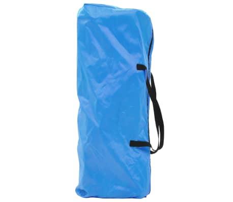 vidaXL Conjunto de mesa y sillas de camping 3 piezas azul[13/15]
