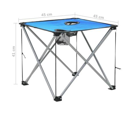 vidaXL Conjunto de mesa y sillas de camping 3 piezas azul[15/15]