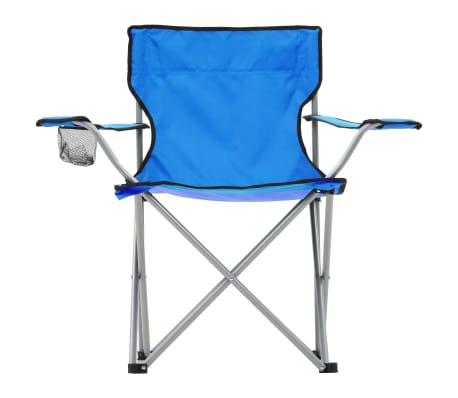vidaXL Conjunto de mesa y sillas de camping 3 piezas azul[3/15]