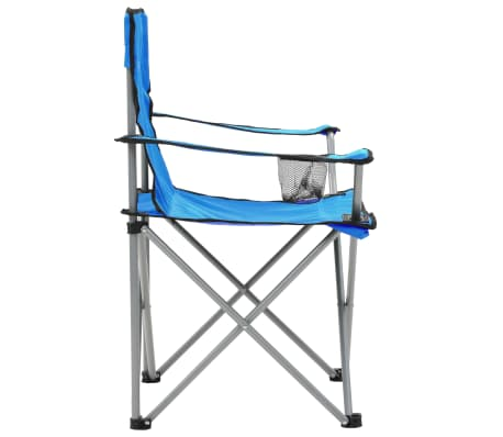 vidaXL Conjunto de mesa y sillas de camping 3 piezas azul[5/15]