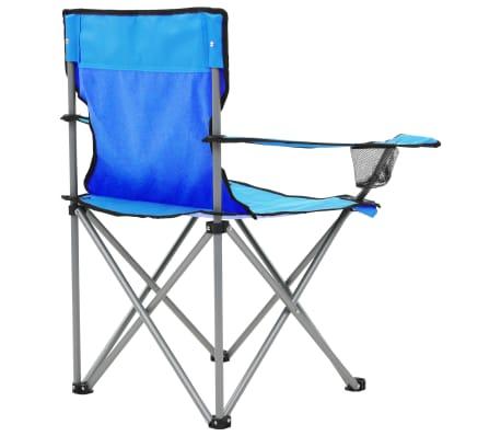 vidaXL Conjunto de mesa y sillas de camping 3 piezas azul[6/15]