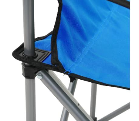 vidaXL Conjunto de mesa y sillas de camping 3 piezas azul[7/15]