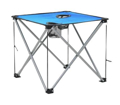 vidaXL Conjunto de mesa y sillas de camping 3 piezas azul[9/15]