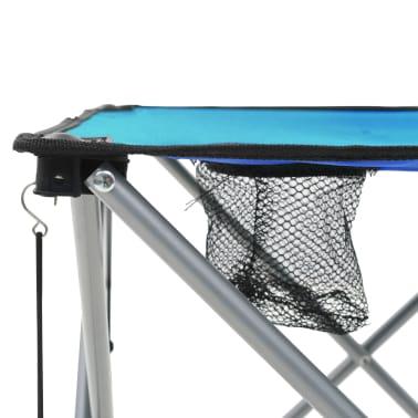vidaXL Conjunto de mesa y sillas de camping 3 piezas azul[11/15]