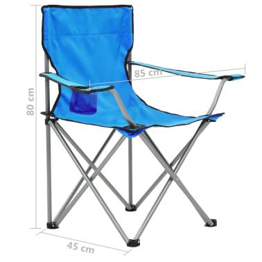 vidaXL Conjunto de mesa y sillas de camping 3 piezas azul[14/15]