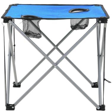 vidaXL Conjunto de mesa y sillas de camping 3 piezas azul[8/15]