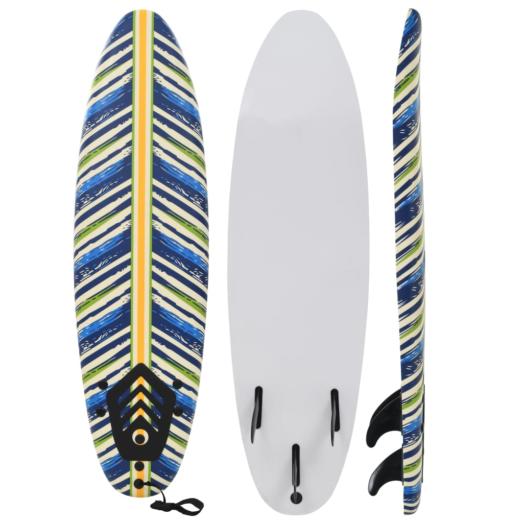 vidaXL Placă de surf, 170 cm, model frunză imagine vidaxl.ro