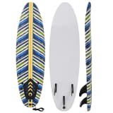 vidaXL Prancha de surf design folhas 170 cm