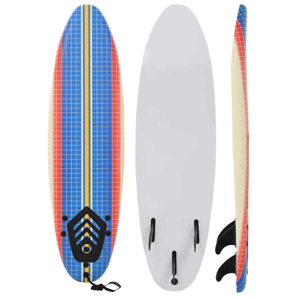 vidaXL Placă de surf, 170 cm, model mozaic poza vidaxl.ro