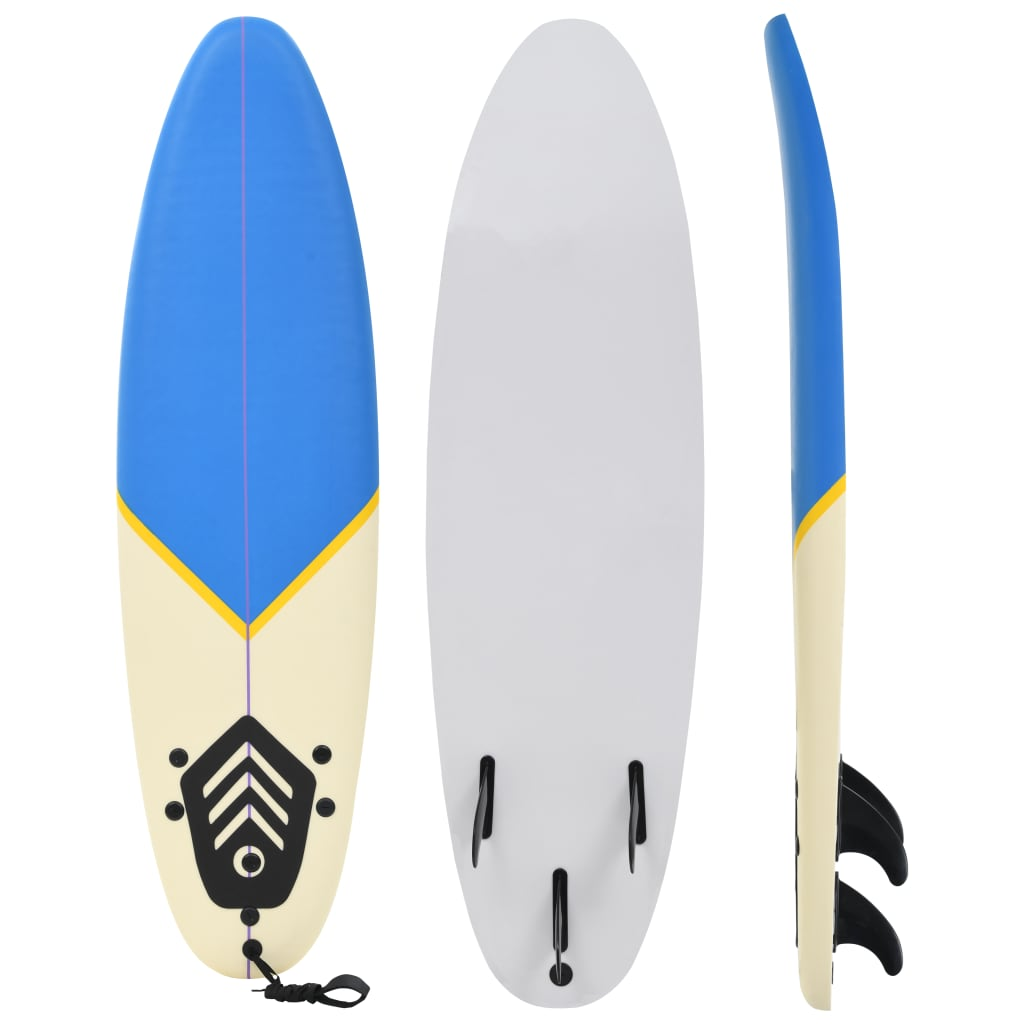 VidaXL Surfboard 170cm Blau and Cream Start Buoyancy Wave Riding Surfing Board