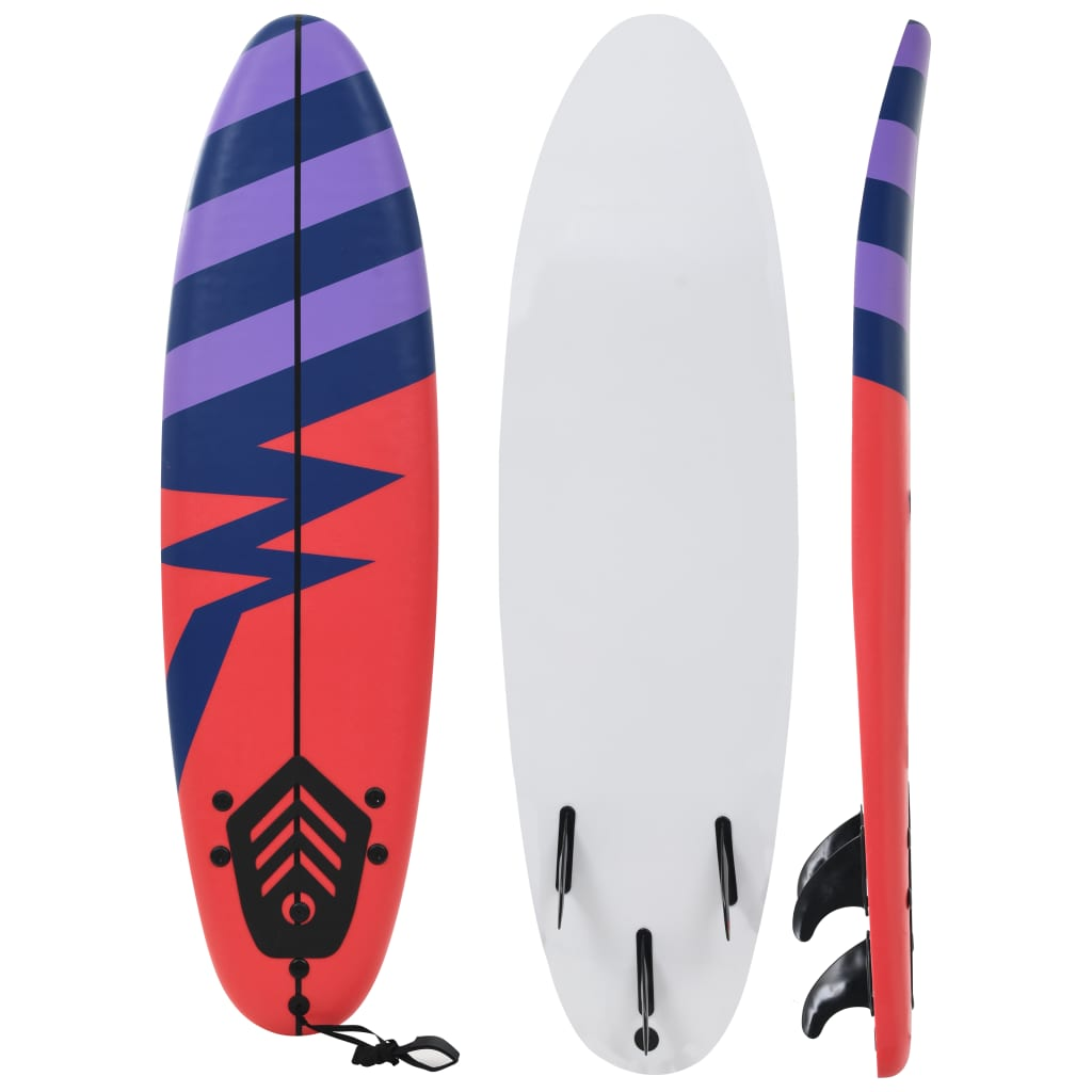 vidaXL Placă de surf, 170 cm, model dungi imagine vidaxl.ro