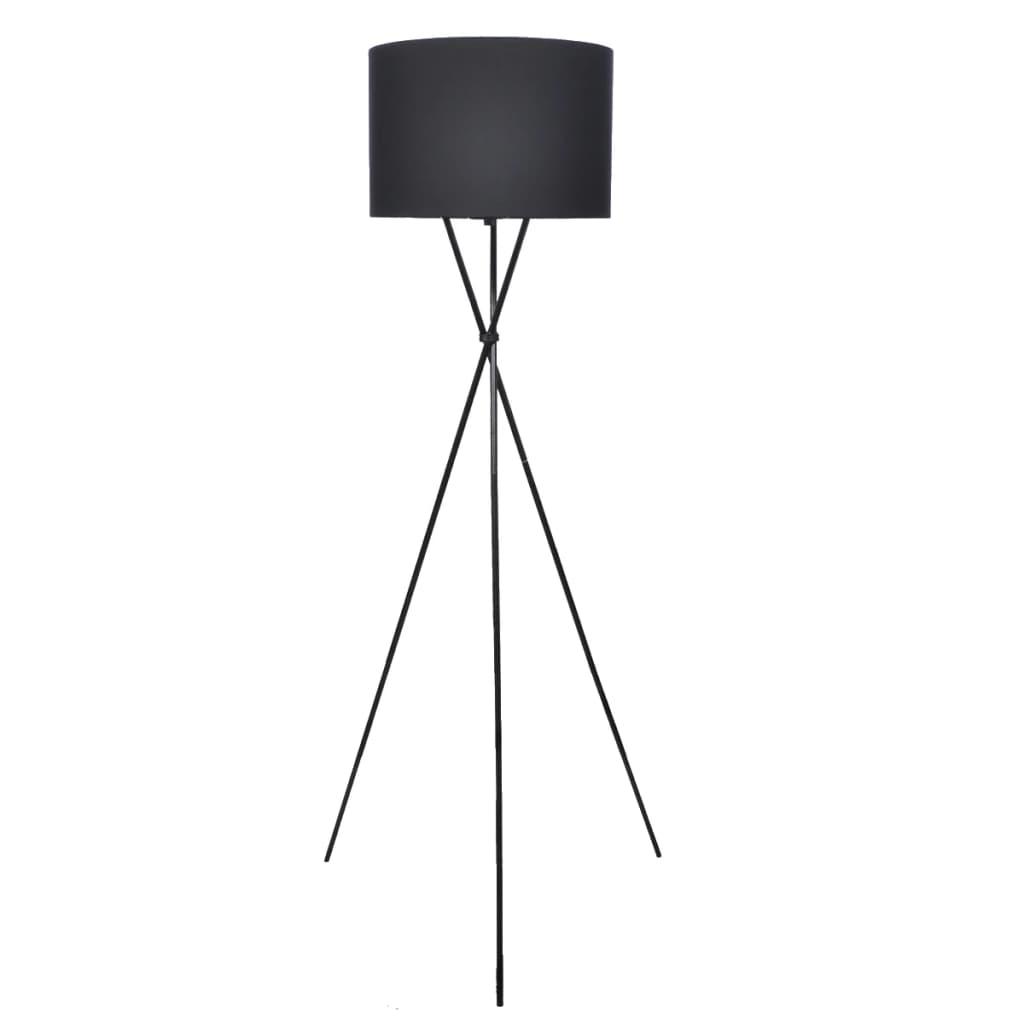 vidaXL Stojací lampa se stojanem černá 139 cm
