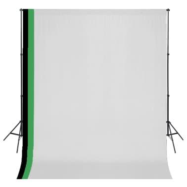 vidaXL Fotostudio Set 3 Baumwolle-Hintergründe Rahmen verstellbar 3x3m[1/6]