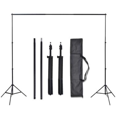 vidaXL Fotostudio Set 3 Baumwolle-Hintergründe Rahmen verstellbar 3x3m[5/6]