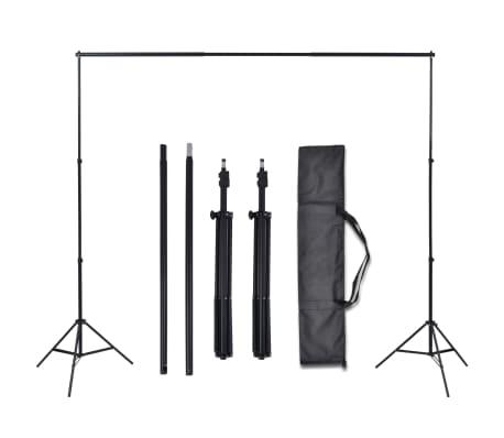 vidaXL Fotostudio Set 3 Baumwolle-Hintergründe Rahmen verstellbar 3x5m[5/6]