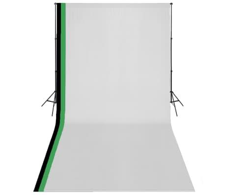 vidaXL Fotostudio Set 3 Baumwolle-Hintergründe Rahmen verstellbar 3x6m[1/6]