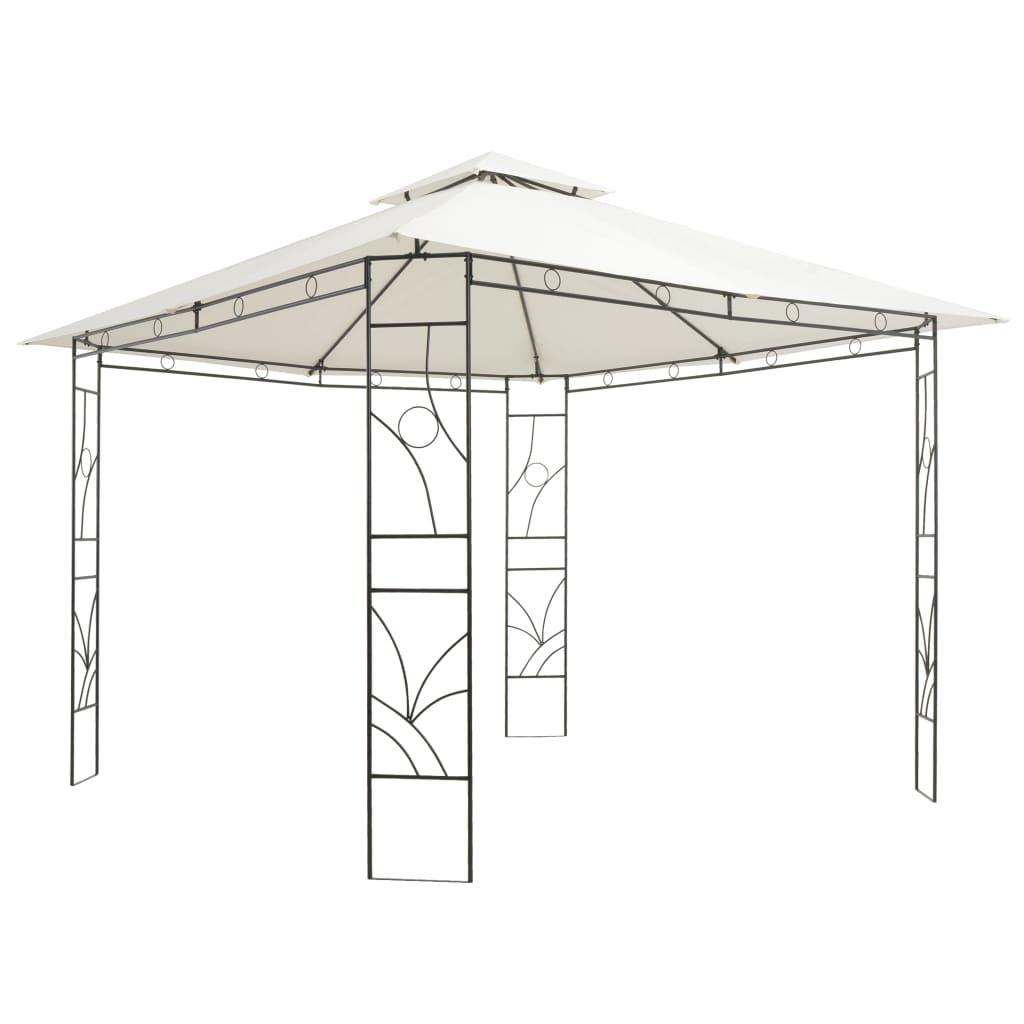 vidaXL Pavilion, crem, 300 x 300 x 300 cm, pătrat poza 2021 vidaXL
