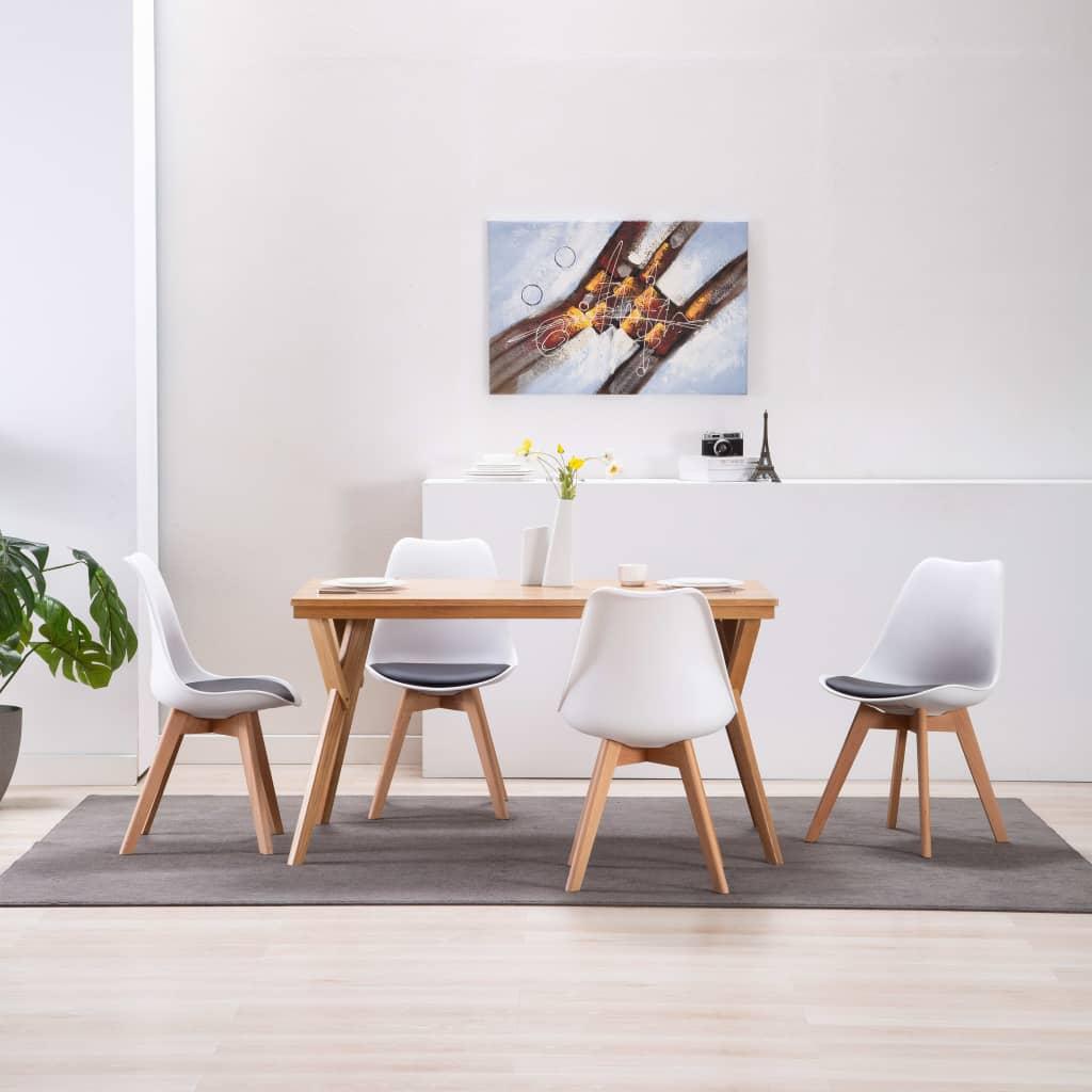 vidaXL Καρέκλες Τραπεζαρίας 4 τεμ. Ασπρόμαυρες