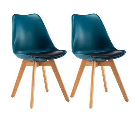Twee Zwarte Leren Stoelen.Turquoise En Eetkamerstoelen Zwart Nl Online St Vidaxl 2 Kopenvidaxl