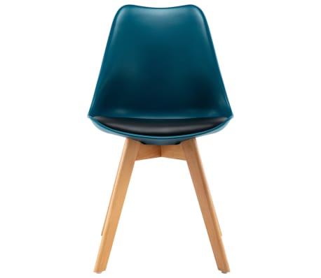 vidaxl esszimmerst hle 4 stk t rkis und schwarz g nstig. Black Bedroom Furniture Sets. Home Design Ideas