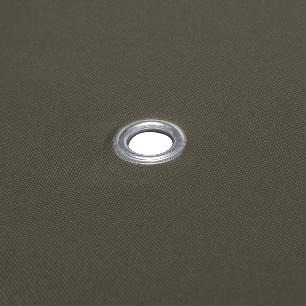 vidaXL Toile Supérieure de Belvédère 2 Niveaux 310 g/m² 3x3 m Taupe Bâche 5