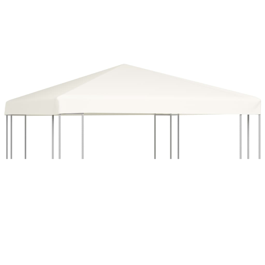 vidaXL Acoperiș de pavilion, 310 g/m², alb crem, 3 x 3 m imagine vidaxl.ro