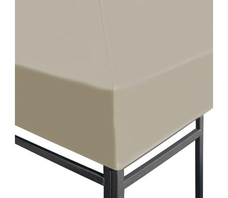 vidaXL Copertura Superiore per Gazebo 310 g/m² 3x3 m Marrone[3/5]