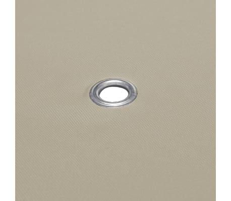 vidaXL Viršutinis pavėsinės uždangalas, 310 g/m², 3x3m, rudas[5/5]
