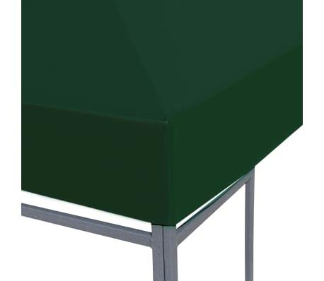 vidaXL Toile supérieure de belvédère 310 g / m² 3 x 3 m Vert[3/5]