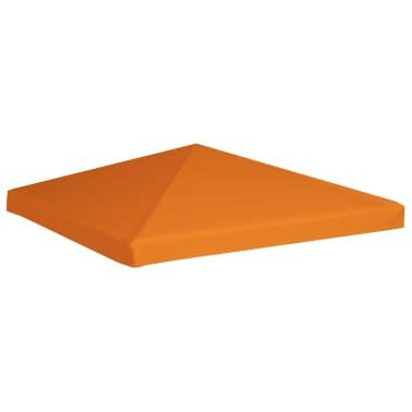 vidaXL Viršutinis pavėsinės uždangalas, 310 g/m², 3x3m, oranžinis[2/5]