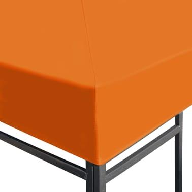 vidaXL Viršutinis pavėsinės uždangalas, 310 g/m², 3x3m, oranžinis[3/5]