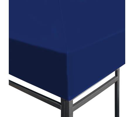 vidaXL Viršutinis pavėsinės uždangalas, 310 g/m², 3x3m, mėlynas[3/5]
