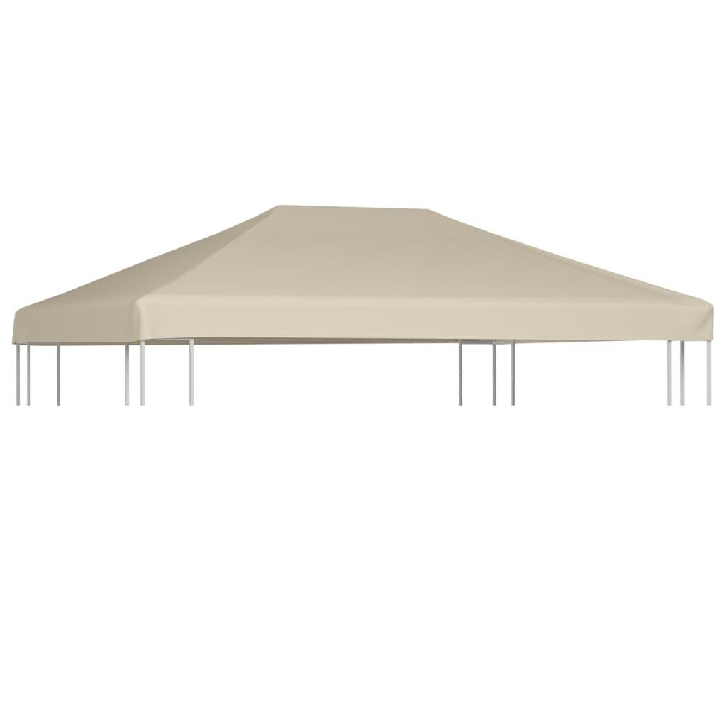 vidaXL Náhradní střecha na altán 310 g/m² 4 x 3 m hnědá