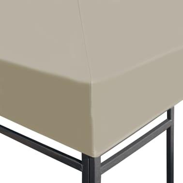 vidaXL Zadaszenie altany ogrodowej, 310 g/m², 4 x 3 m, brązowe[3/5]