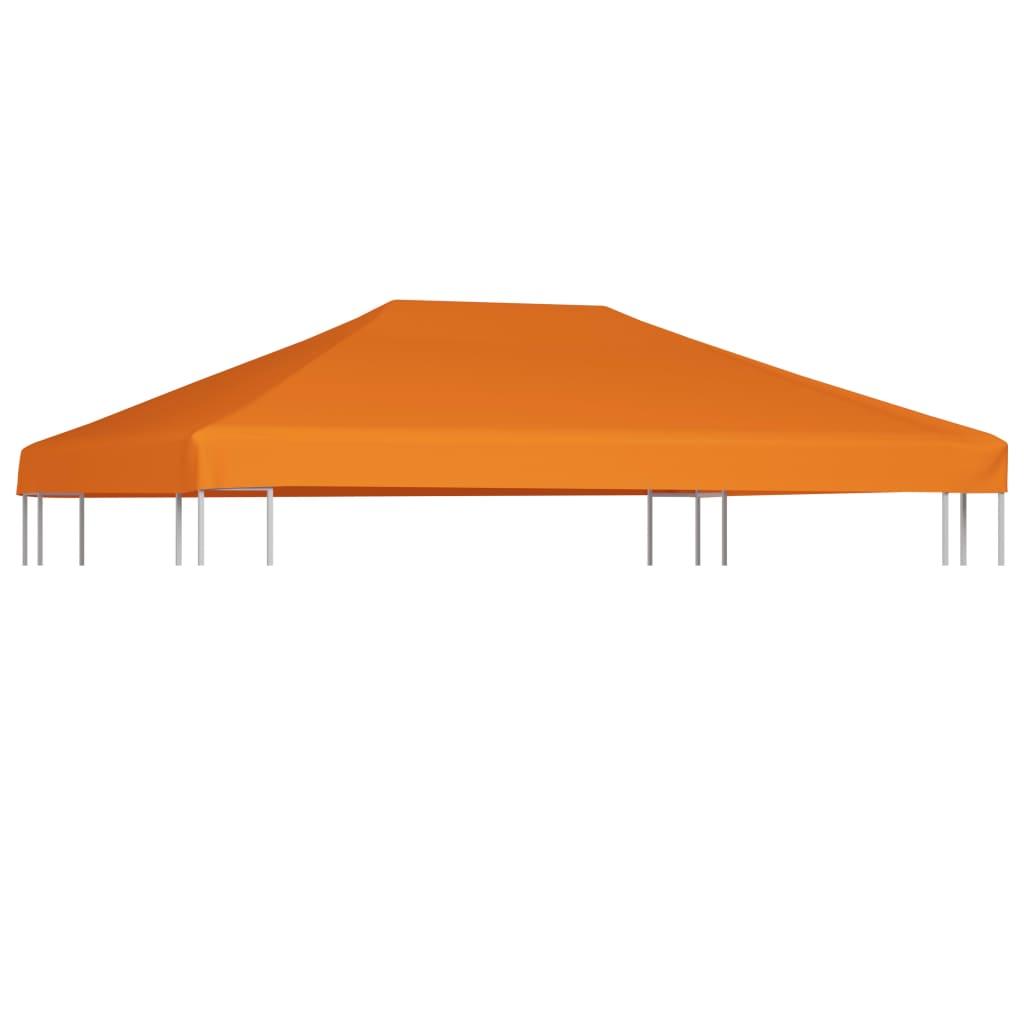 vidaXL Náhradní střecha na altán 310 g/m² 4 x 3 m oranžová