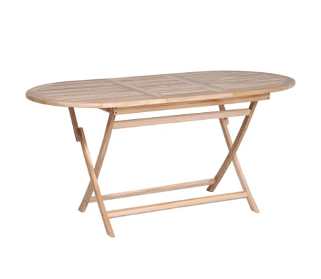 vidaXL Folding Garden Table 160x80x75 cm Solid Teak Wood